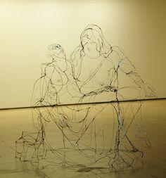 David Oliveira's Sketched Wire Sculptures