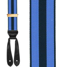 Stripe braces suspenders this is the only way to go. No clip-ons!!