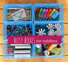Great busy boxes for toddlers when I need a few minutes
