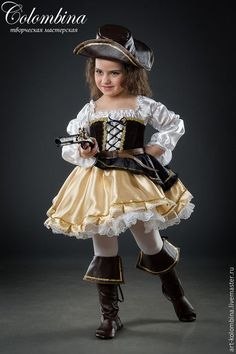 Buy Suit robber - gold, robber, to . Toddler Costumes, Cute Costumes, Carnival Costumes, Baby Costumes, Dance Costumes, Pirate Dress, Fairy Dress, Halloween Disfraces, Girl Dancing