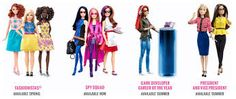 Earlier today Mattel debuted a bunch of new Barbie dolls for the coming year. Among them: Game Developer Barbie, with her cool glasses and nifty headphones and ergonomically sound standing desk. New Barbie Dolls, Barbie 2000, Barbie Toys, Barbie Website, Made Video, Collector Dolls, New Job, Girly Girl, Kids Girls