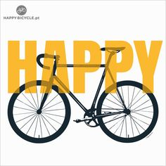 T-shirt HAPPY | by Happy Bicycle Store. If you're happy when cycling, why not share with the world?