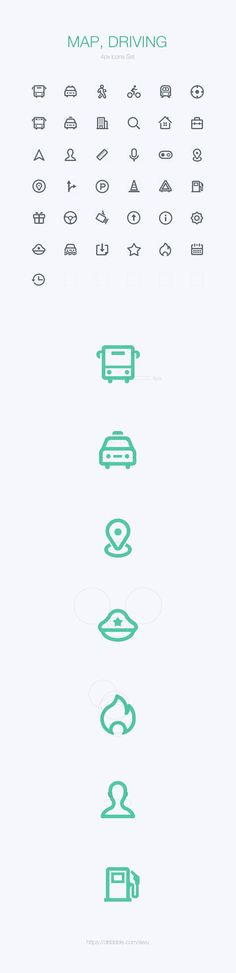 Nice and clean driving icons