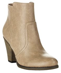 ROF Luxe-01 #Women's #Fashion Comfy Almond Toe Stacked Block Heel Side Zipper Ankle Booties.  #theladybuff #amazon.com