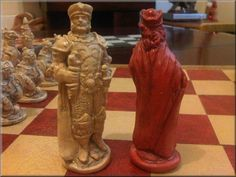 Warlords Wizards Dragons and Goblins Chess Set. от oggtheclever