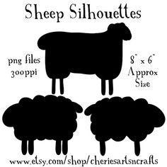 Sheep silhouettes for your digital or paper craft designing needs! Description from etsy.com. I searched for this on bing.com/images