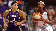 Candace Parker (CP3) of the L.A. Sparks and Tina Charles of Conn. are named WNBA players of the month for June 2012