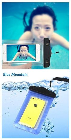 Waterproof Phone Bag Perfect for post workout selfies or playing at the beach in your real l swim-able mermaid tail from Fin Fun Mermaid.