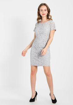 PENCIL DRESS WITH CAP SLEEVE - Sukienka koktajlowa - grey