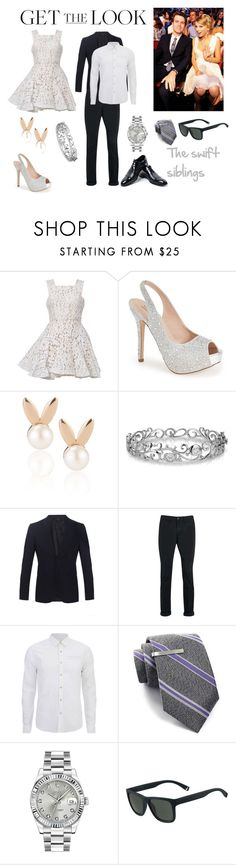 """siblings"" by zoyann on Polyvore featuring Alex Perry, Lauren Lorraine, Aamaya by priyanka, Effy Jewelry, Burberry, Topman, Scotch & Soda, Broletto, Rolex and Lacoste"