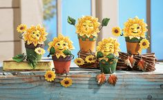 Smiling Sunflower Collectible Sitters