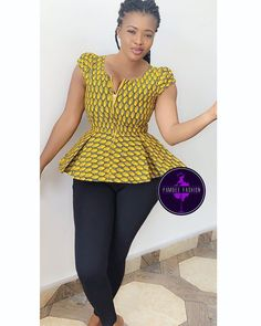 Lovely Ankara Tops For Ladies - Latest African Fashion 2019 Short African Dresses, Latest African Fashion Dresses, African Print Dresses, African Print Fashion, Africa Fashion, Ghana Fashion, African Lace, Ankara Tops, African Print Dress Designs