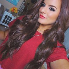 "The one & only @caseyhl91 rocking her 24"" Luxurious Clip in Extensions in Cocoa ❤️ We are obsessed  #FoxyLocks #TeamFoxyLocks #FoxyLocksFox"