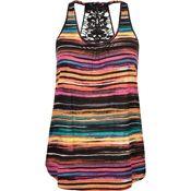 Crochet Back Ethnic Print Womens Tank - Multi