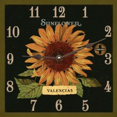 Beautiful Sunflower Placed In A Gorgeous Clock, With A Vintage Look. This  Would Make