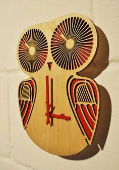 Twiggy Owl  wall Clock by pedromealha on Etsy, £40.00