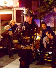 It's a dangerous job, but someone's got to do it. #ChicagoFire / Jesse Spencer