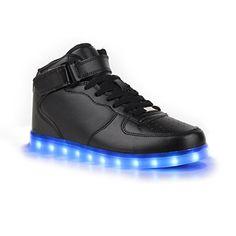 Sofort lieferbar aus DE - Leuchtende und Blinkende Damen Sneakers High Led Light Farbwechsel Schuhe LED Licht - http://on-line-kaufen.de/stiefelparadies/sofort-lieferbar-aus-de-leuchtende-und-blinkende