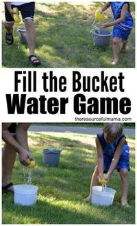 Fill the Bucket Outdoor Water Game - The Resourceful Mama
