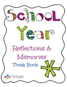 School Year Reflections & Memories Think Book free sample pages link on TPT