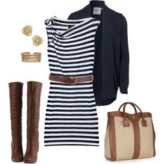 How to Fall-ify summer nautical stripes for a SoCal Fall