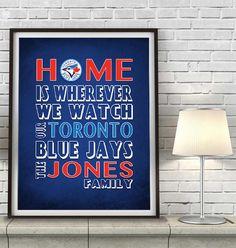 "Copy of Toronto Blue Jays Baseball Inspired Personalized & Customized ART PRINT- ""Home Is"" Parody Retro Unframed Print Royals Baseball, Dodgers Baseball, Pirates Baseball, Packers Football, Packers Memes, Packers Funny, Illini Basketball, Falcons Football, Baseball Live"