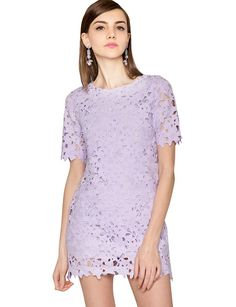 BACK IN STOCK! // Pixie Market Lavender Garden Party Dress - lace overlay shift dress - $65