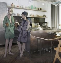 Yuri: Did you HEAR about Christophe? Victor: Yeah, what a Perv! Love On Ice, ユーリ!!! On Ice, Ice Ice Baby, Katsuki Yuri, Yuuri Katsuki, Yuri On Ice, Victor Yuri, Victor Nikiforov, Katsudon