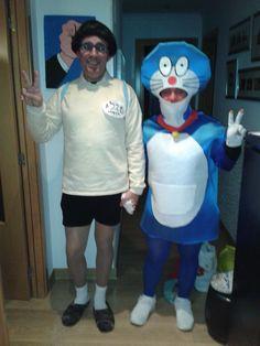 """Disfraz """"Doraemon y Nobita"""", de Dani Nadal y Mavi Sastre.  Sábado, 9 de febrero de 2013."""