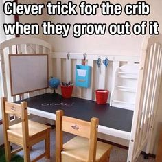 You can still use your baby's crib once they grow out of it. Learn more ways to upcycle your baby stuff in our article.