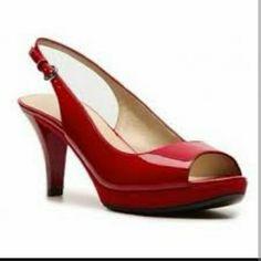d8001709503f Red Nine West karoo heels Red Nine West karoo heels size Great condition.  Nine West Shoes Platforms