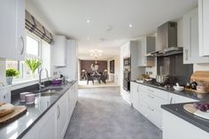 This open-plan kitchen diner is a real show-stopper