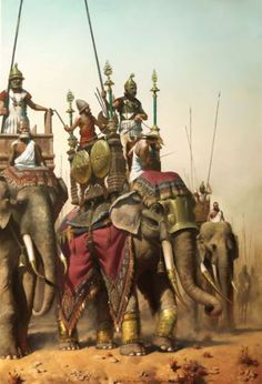 Seleucid Army, emerged after the breakup of the empire of Alexander the Great. 300 B.C.