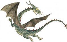 "Dragon from the children's book 'Prinsessor och drakar' (""Princesses and dragons"") by Christina Björk and Eva Eriksson."