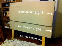 DIY How to Make a Headboard.finally, I've been looking for this since I learbed how to pad a headboard. Ideas Para Trabajar La Madera, Diy Projects To Try, Home Projects, Craft Projects, Furniture Projects, Diy Furniture, Apartment Furniture, Apartment Bedrooms, Furniture Direct