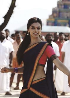 "Bollywood beauty Deepika padukone half saree photos from the movie ""Chennai express"". Deepika padukone in half saree,traditional look in saree photos. Indian Celebrities, Bollywood Celebrities, Bollywood Actress, Bollywood Stars, Bollywood Fashion, Beautiful Indian Actress, Beautiful Actresses, Indian Dresses, Indian Outfits"