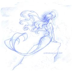 Ariel - classic-disney Fan Art Simple but astonishingly beautiful Ariel Disney, Disney Little Mermaids, Ariel The Little Mermaid, Disney Dream, Disney Love, Disney Magic, Walt Disney, Disney Princesses, Disney Sketches