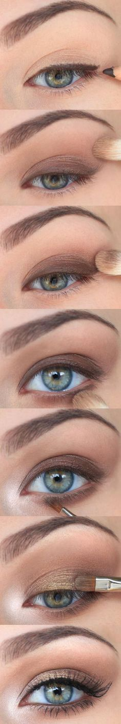Step by step every day smokey eye makeup. Great for all eye colours