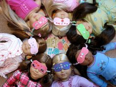 Make Sleep Masks for Your Dolls ~ FABULOUS doll play blog with tons of tutorials!