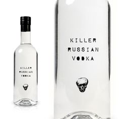 Killer Russian Vodka - such a sucker for packaging. Cool Packaging, Bottle Packaging, Brand Packaging, Packaging Design, Cosmetic Packaging, Alcohol Bottles, Vodka Bottle, Cocktails, Alcoholic Drinks