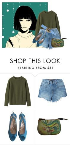 """""""Welcome Back, Master Haku!"""" by against-the-tides ❤ liked on Polyvore featuring Ghibli, Toast, Alexander Wang, Christian Louboutin, Anuschka, Gucci and modern"""