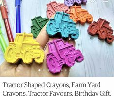 Tractor Birthday, Farm Yard, Tractors, Birthday Gifts, Favors, Shapes, Toys, Birthday Presents, Activity Toys