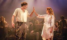 Tom Bateman as Doricles/Florizel and Jessie Buckley as Perdita in The Winter's Tale.