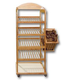 4-Shelf Bakery Rack with Built-in Header | Bakery Store Fixture | Bread Display