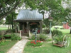 This is what my she shed looks like in my mind!!