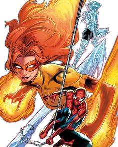 Marvel Comic Character, Geek Girls, Amazing Spider, Black Panther, X Men, Comic Art, Marvel Comics, Book Art, Spiderman