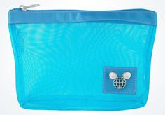 disney parks TAG collection mickey light blue mesh cosmetic bag new with tags