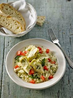 Gemüse - Risotto mit Artischockenherzen, Tomaten und Rucola (Rezept mit Bild) | Chefkoch.de