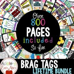 BRAG TAGS are taking over the classroom management scene in classrooms! If you like using 'whole brain teaching' methods, and want to implement this strategy in your teaching routine, THIS IS THE PLACE TO START! This bundle comes complete with all the sets of Brag Tags that I currently have in my store, as well as any future brag tag sets that I create!