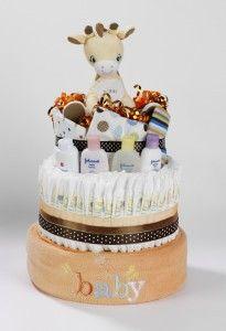 Art giraffe diaper cake products-i-love